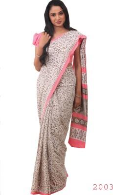 Uniformsareesindia Printed Daily Wear Synthetic Chiffon Sari