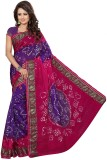 Kmozi Embellished Bandhej Art Silk Saree...