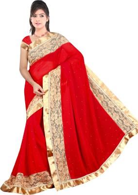 Om Shree Vallabh Self Design Banarasi Georgette Sari