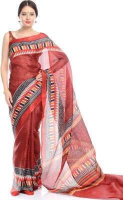 SAS CREATIONS Printed Daily Wear Cotton Sari