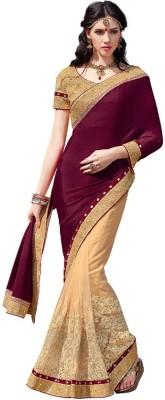 Resham Fabrics Embriodered Fashion Chiffon, Net Sari