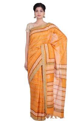 Indian Artizans Woven Fashion Silk Cotton Blend Sari