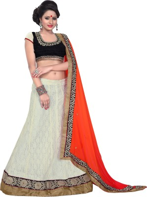 Florence Embroidered Womens Lehenga, Choli and Dupatta Set(Stitched)