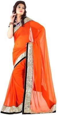 Krishna Ki Leela Embellished Fashion Handloom Georgette Sari