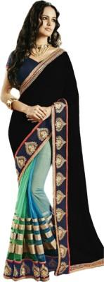 VAMANDA Graphic Print Fashion Georgette Sari