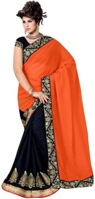 Radhe Krishna Creation Plain Fashion Georgette Sari