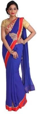 Nav Durga Applique, Embriodered, Woven Bollywood Art Silk Sari
