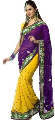 Divazz Embriodered Bollywood Net Sari