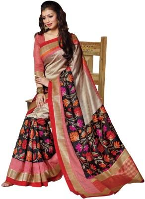 Kajal Sarees Floral Print Mysore Pure Silk Sari