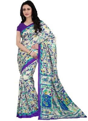 AJS Chevron, Checkered, Printed Fashion Art Silk Sari