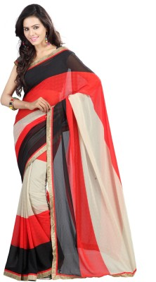 Yehii Printed Fashion Chiffon Sari