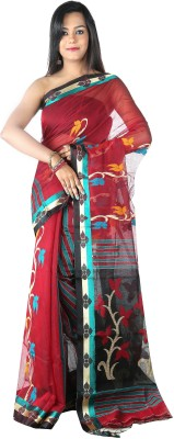 Rupashi Self Design Chanderi Cotton Sari