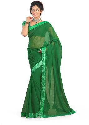 Sukuma Solid Bollywood Georgette Sari