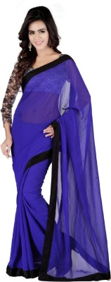 SRK Self Design Bollywood Georgette Sari