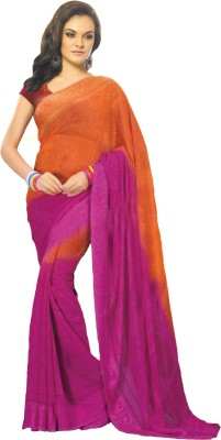 Banjaraindia Self Design Fashion Synthetic Georgette Sari