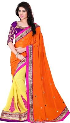 The Core Fashion Embriodered Fashion Handloom Georgette Sari