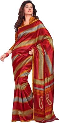 Urban Vastra Striped Bhagalpuri Dupion Silk Sari
