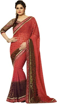 Zenny Creation Solid Fashion Brasso Sari