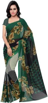Desi Look Floral Print Bollywood Georgette Sari