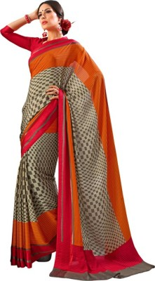 Animesh Printed Fashion Crepe Sari