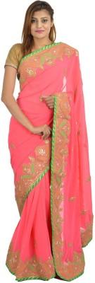 Wedding Saree Store Embellished, Embriodered Fashion Pure Georgette Sari