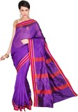 Pavechas Solid Banarasi Cotton, Silk Sar...