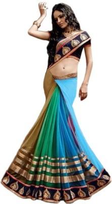 Vivera Fashion Solid Bollywood Georgette Sari