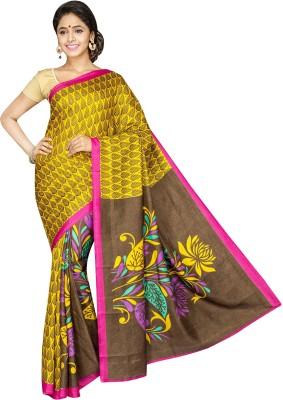 Aditi Fashions Floral Print Fashion Raw Silk Sari