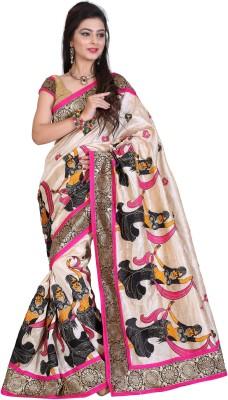 SayShopp Embellished Bollywood Cotton Linen Blend Sari