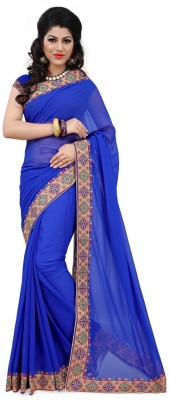 RG DESIGNERS Embriodered Fashion Net Sari