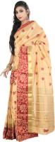 Rani Saahiba Woven Fashion Art Silk Sari(Beige)
