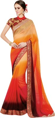 Shoponbit Embriodered Fashion Georgette Sari