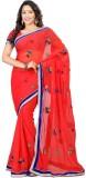 Poonam Saree Self Design Bollywood Chiff...