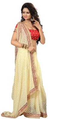 Kpcreation Embriodered Fashion Viscose Sari