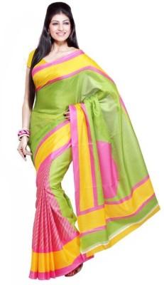 Sathiya Print Floral Print Fashion Handloom Art Silk Sari