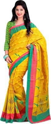 Urban Vastra Geometric Print Bhagalpuri Jute Sari