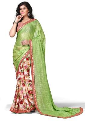 sitaram creation Plain, Printed, Floral Print, Self Design Fashion Synthetic Georgette, Pure Georgette Sari