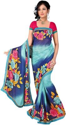 Janya Self Design Gajee Georgette Sari