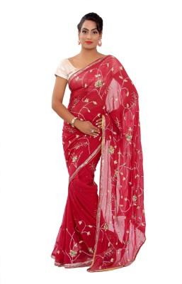 Shri Narayan Fashions Embellished Fashion Synthetic Georgette Sari