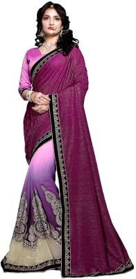 Stella Creation Embriodered Daily Wear Georgette, Lycra, Net Sari