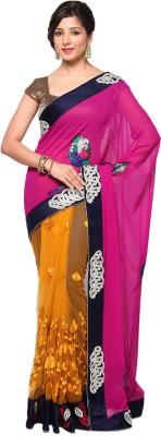 Balaji Creations Self Design Fashion Georgette, Net Sari