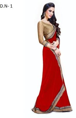Meetwaa Self Design Bollywood Chiffon Sari