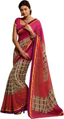 Vonage Checkered Fashion Silk Sari