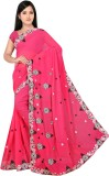 HSFS Embriodered Daily Wear Georgette Sa...