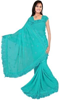 Omanksh Fashion Self Design Daily Wear Handloom Chiffon Sari