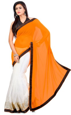Indian Saree Solid Bollywood Georgette, Net Sari