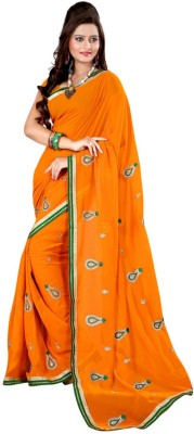 Deal Fashion Embriodered Fashion Georgette Sari