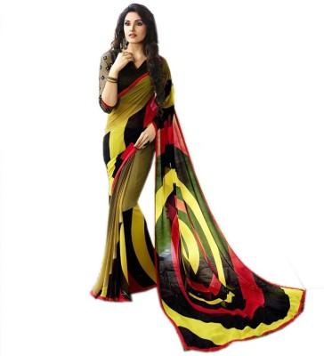 Shopcartz Printed Bollywood Poly Silk Sari