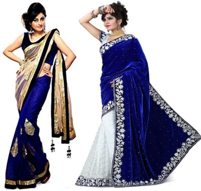 Tulsi Nx Solid Fashion Net, Velvet Sari