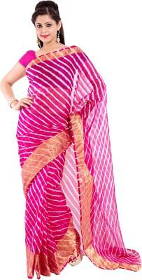 Sinjara Striped Leheria Silk Cotton Blend Sari